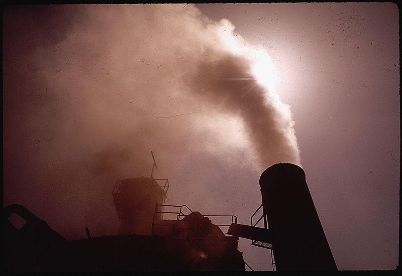 Treibhausgase aus Schlot