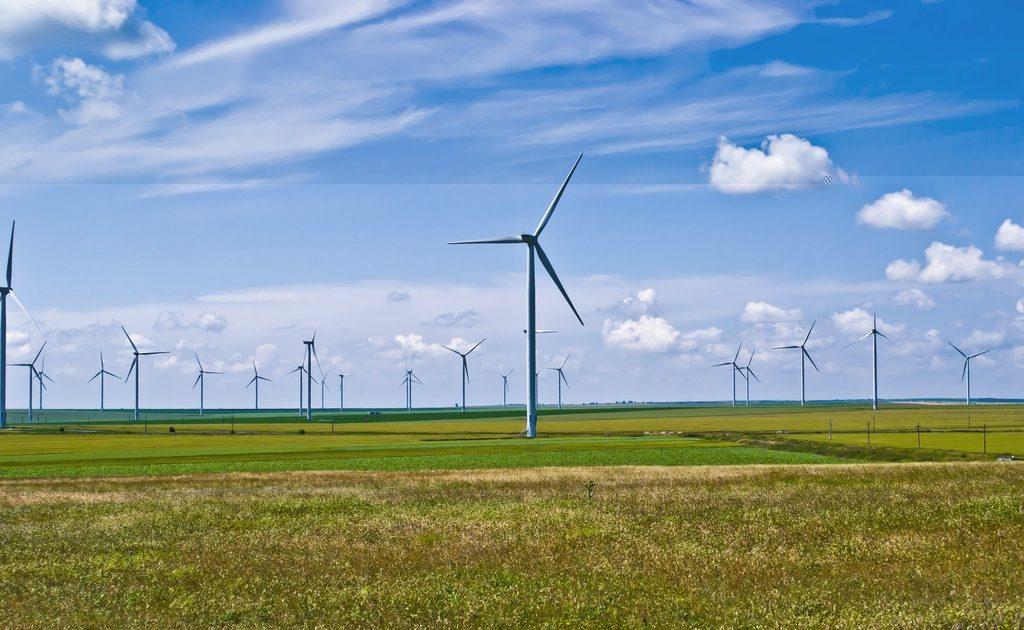 Windkraftanlage Flachland